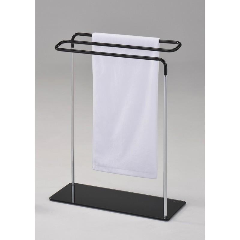 Zig zag porte serviette chrome noir l sarl for Decoration porte serviette