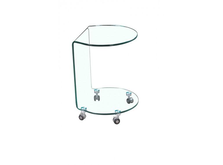 Bent bout de canape rond en verre tremp sarl carremeuble - Table bout de canape en verre design ...