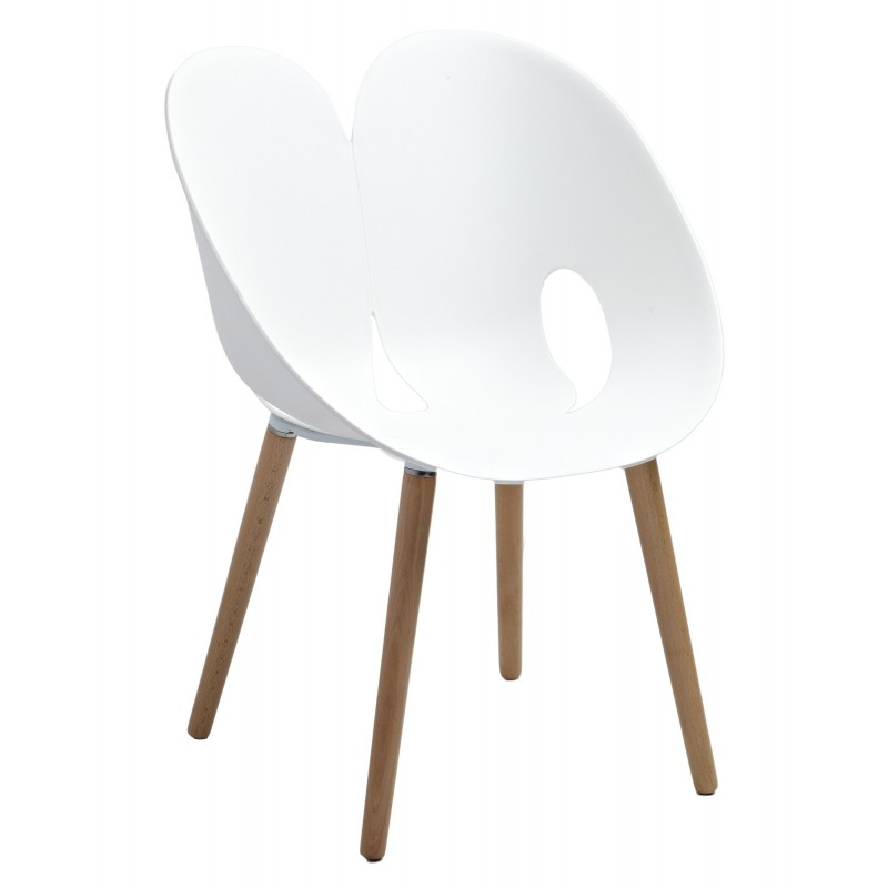 Chaise design blanche nadege sarl carremeuble - Chaise blanche design ...