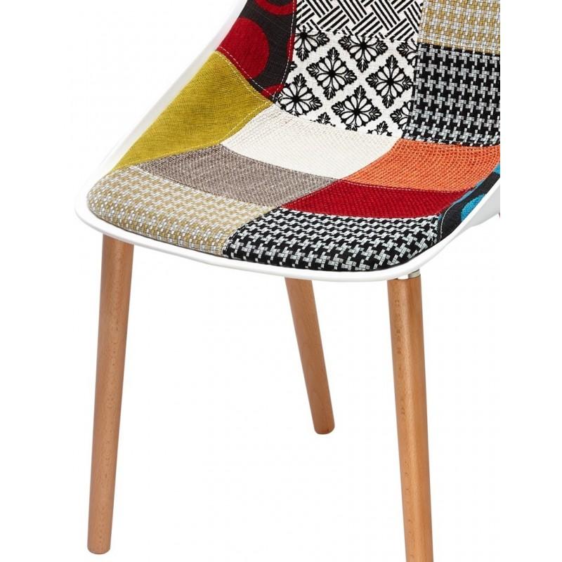chaise bois et tissu by emilio polo barbara sarl. Black Bedroom Furniture Sets. Home Design Ideas
