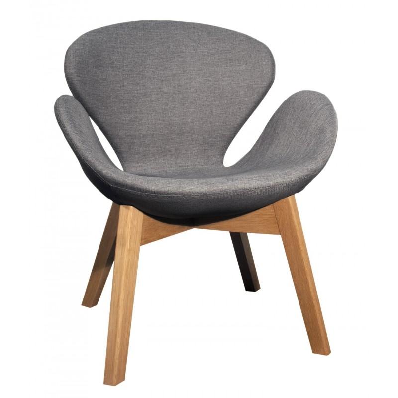 chaise grise pied bois style sarl carremeuble. Black Bedroom Furniture Sets. Home Design Ideas