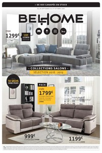 Catalogue Belhome salons 2018 - 2019