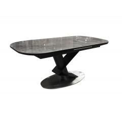 Table de repas extensible 180/220 cm en céramique & métal - TITANE