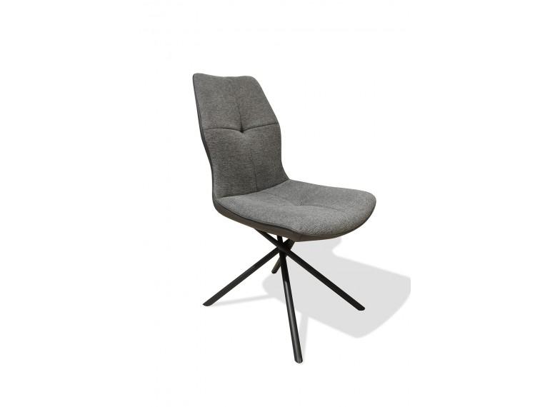 Chaise tissu gris anthracite - ALINE