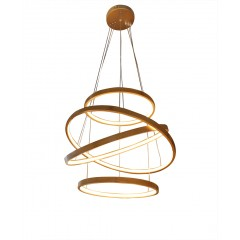 Lustre spirale à LED en bambou - SEATTLE