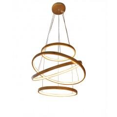 Lustre spirale à LED en bambou - SEATTLE