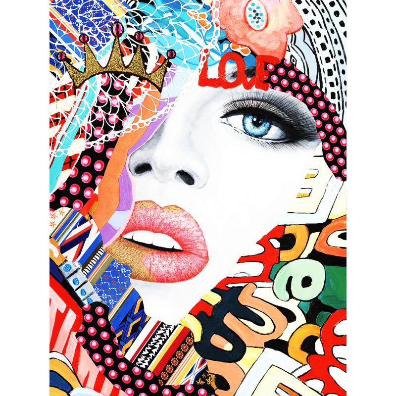 Tableau Pop En Peinture Et Collage Axel