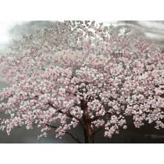 Peinture sur toile 120 cm cadre décoratif mural tableau arbre en fleur - QUIETUDE
