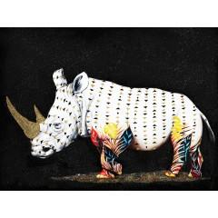 Peinture sur toile 120cm  rhinoceros - RINGO