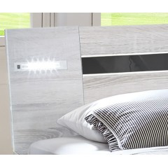 Lit 160x200 design moderne LED - NIZZA