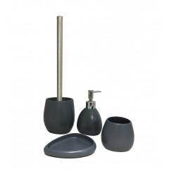 Set 4 accessoires salle de bain en pierre naturelle - KINGSTON