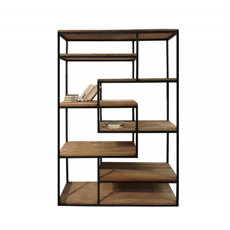 Etagère / bibliothèque industrielle en bois et métal - SYDE