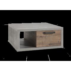 Table basse 2 tiroirs et 1 niche - FABRIC