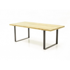 Table de repas 160 cm chêne Massif et métal - BOSTON