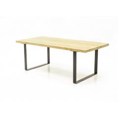 Table de repas 160cm chêne massif & métal - BOSTON
