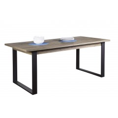Table extensible 180-240 cm finition bois & métal - FABRIC