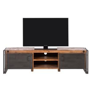 Meuble TV industriel bois et métal - ATELIER