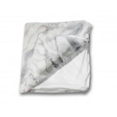 Plaid blanc et gris reflet bleuté - LUND