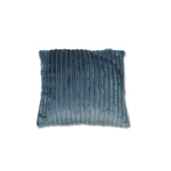 Coussin lumineux effet velours Bleu - FUR