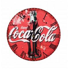 Horloge ronde rouge visuel coca-cola - SODA