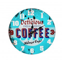 Horloge ronde american vintage - US COFFEE