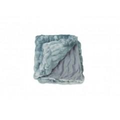 Plaid bleu gris doux & moelleux - COCOON