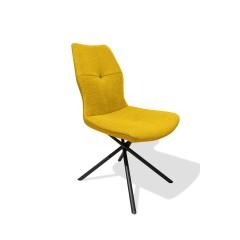 Chaise tissu jaune - ALINE