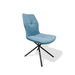 Chaise tissu bleu - ALINE