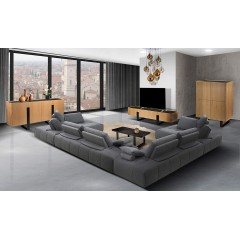 Ambiance Table basse en céramique & métal - ODESSA