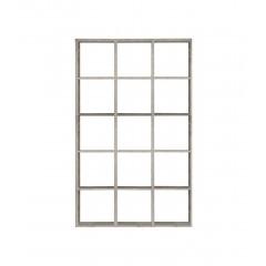 Étagère 15 casiers de rangement couleur chêne grisé - MAURO