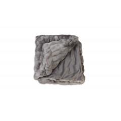 Plaid gris doux & moelleux - COCOON