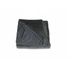 Plaid gris lumineux effet velours - FUR