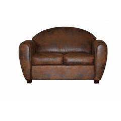 Canapé 2 places vintage effet cuir vieilli - CLUB