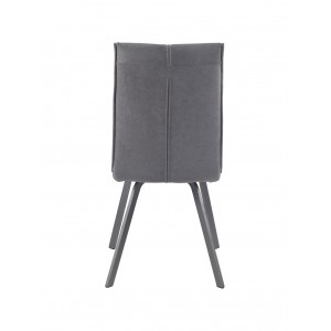Chaise design en tissu & métal Gris - JADE