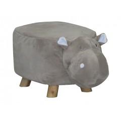 Pouf enfant hippopotame en tissu doux - HIPPOLY