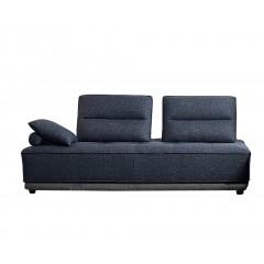 Canapé 3 places modulable tissu bleu - dossiers Amovibles - LOUVRE