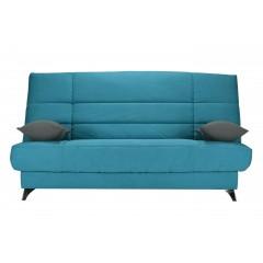 Clic-clac confortable couchage 130x190 bleu - BELFAST