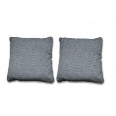 Lot de 2 Coussins 40 x 40 cm tissu gris foncé- LUGANO