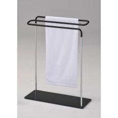 Porte serviette chrome/noir (L:63.5cm) - ZIG-ZAG