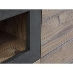 Meuble TV finition bois & gris béton - LOCA - zoom