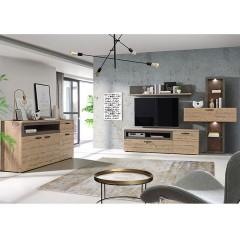 Meuble TV finition bois & gris - LOCA ambiance 2