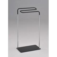 Porte serviette chrome/noir (L:43.5cm) - ZIG-ZAG