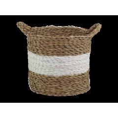 Corbeille ronde en corde de paille naturelle - KORFU - grand