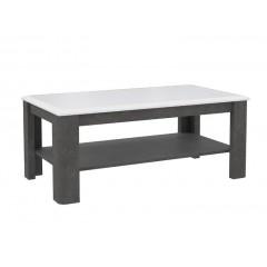 Table basse béton gris foncé & blanc - MONACO