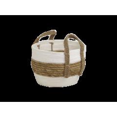 Corbeille ronde en corde à paille - petit modèle  CARTA