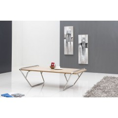 maty: table basse frene /metal