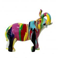 Statue éléphant multicolore en résine - DUMBO POP
