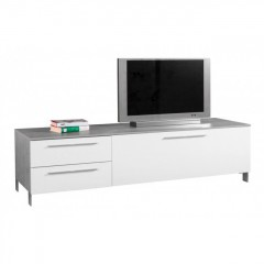 Meuble TV 1 abattant / 2 tiroirs - MODULLO