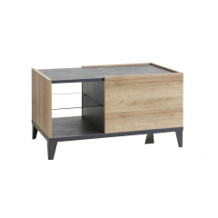 Table basse rangement design contemporain industriel - VICTORIA