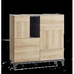 Armoirette 3 portes au design industriel contemporain - VICTORIA